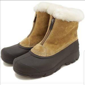 Sorel Snow Angel zip up boots size 10